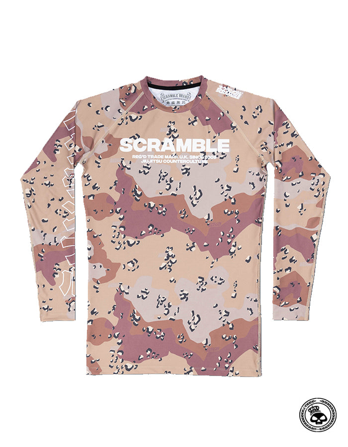 Scramble Base Choc Chip Camo Rash Guard