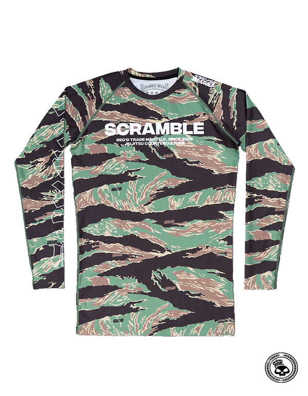 Scramble Base Tiger Camo Rash Guard