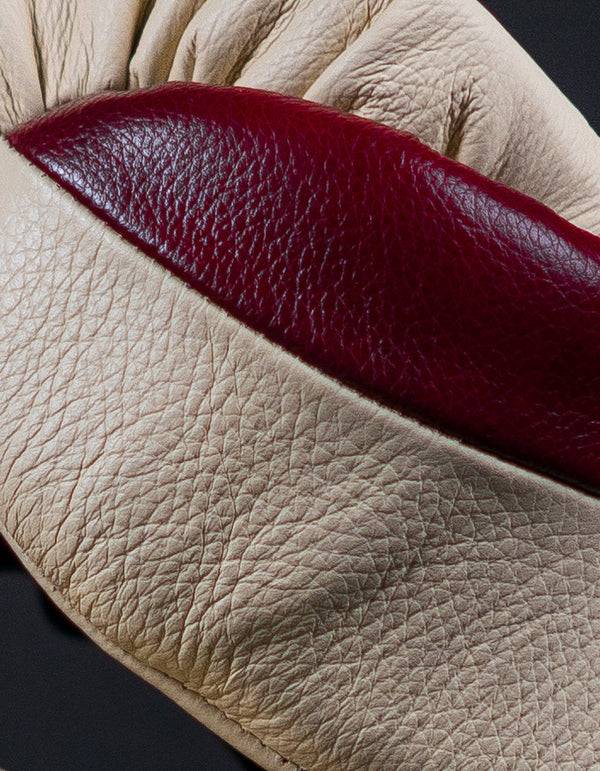 Superare S50 Lace Up Gloves - Maroon/Cream