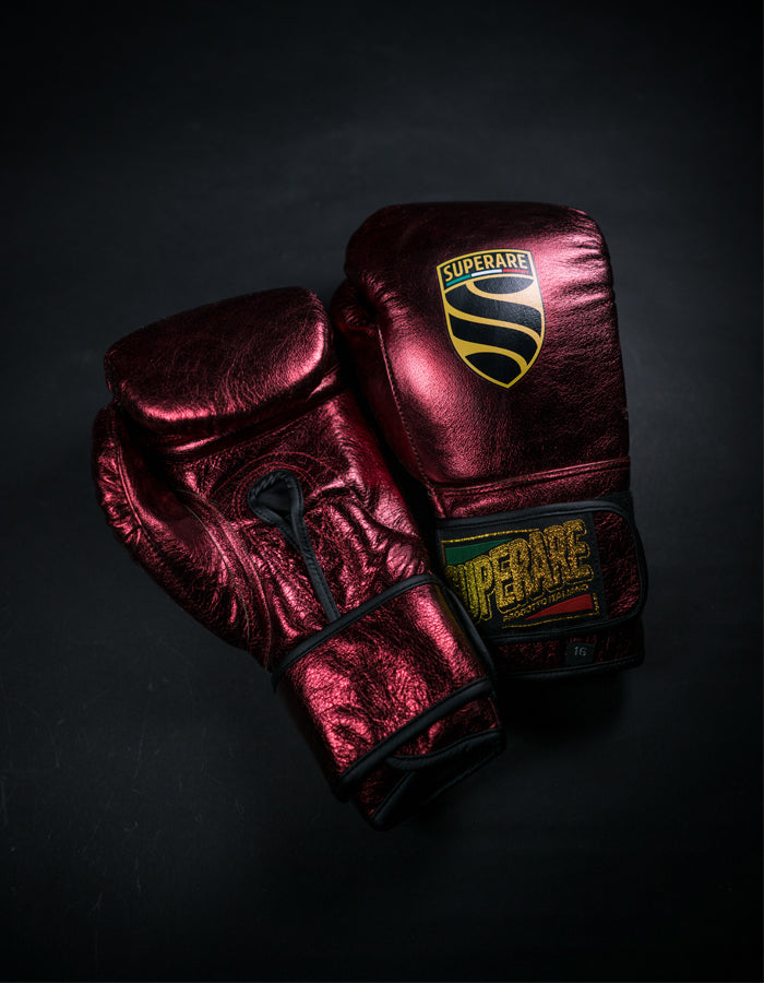 Superare S50 Velcro Gloves - Metallic Maroon