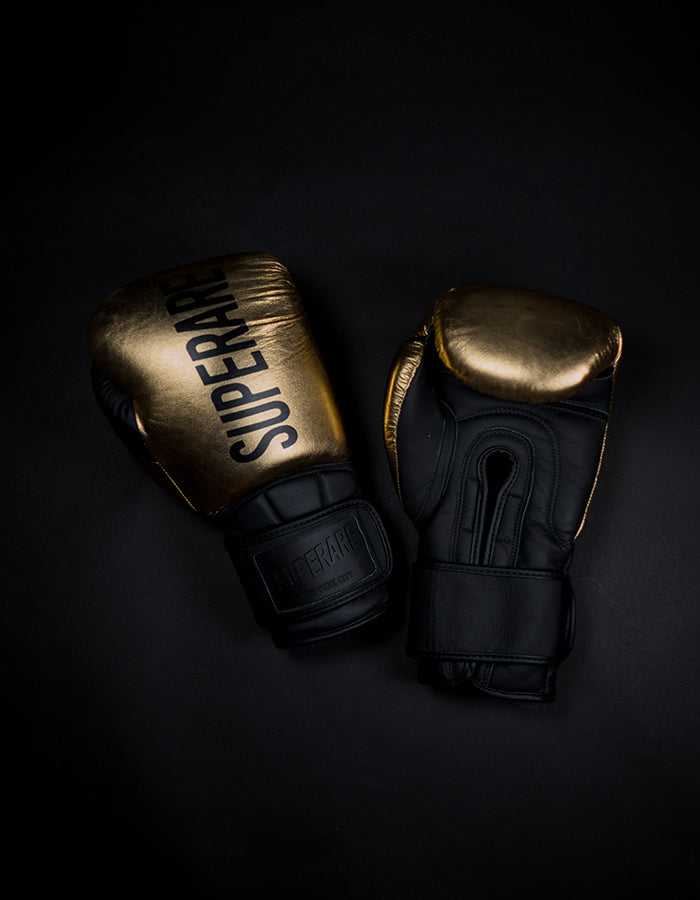 "Superare One Series ""SuperGel"" Velcro Gloves - Gold/Black"