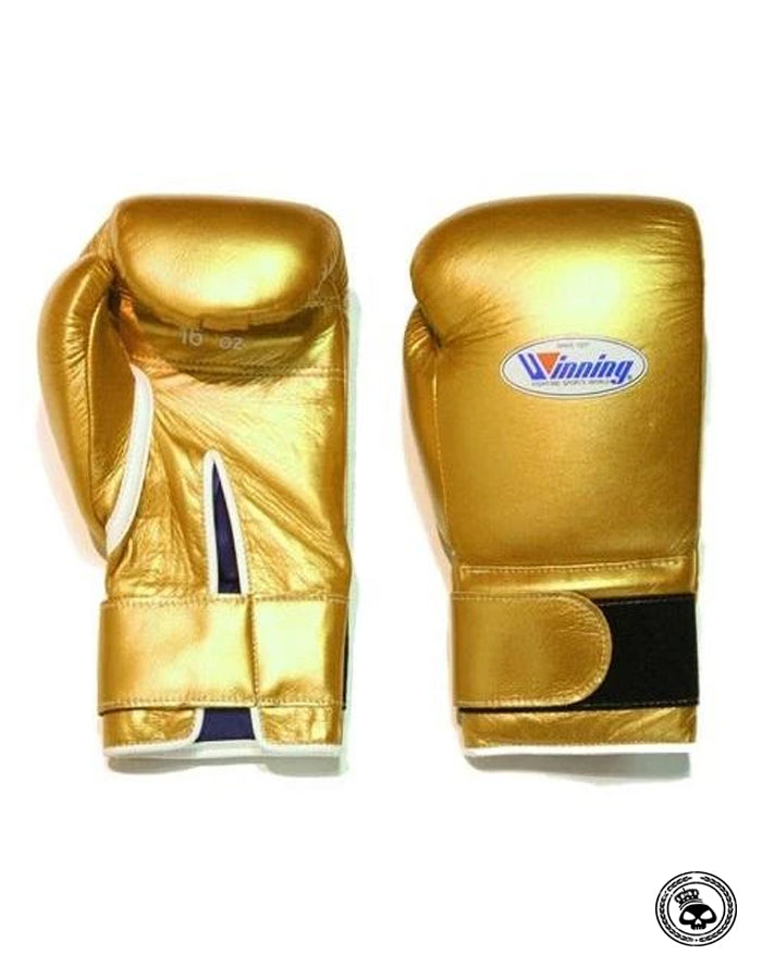 Winning Custom 12 oz Velcro Gloves - Gold