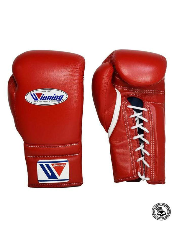 Winning Lace Up Gloves - Red