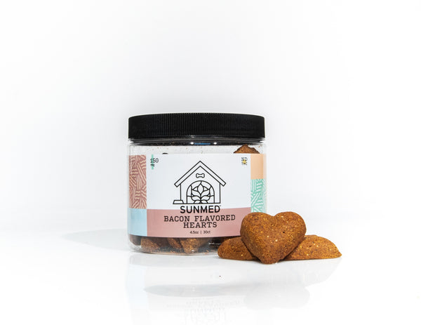 Bacon Heart Dog CBD Treats - 150mg - YourCBDStoreCT
