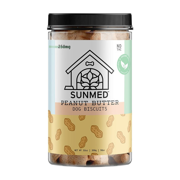 Organic Pet Biscuits – Peanut Butter 250mg - YourCBDStoreCT