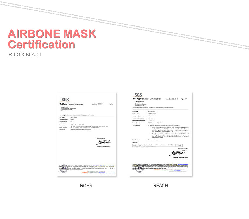 airbon children's mask certificates