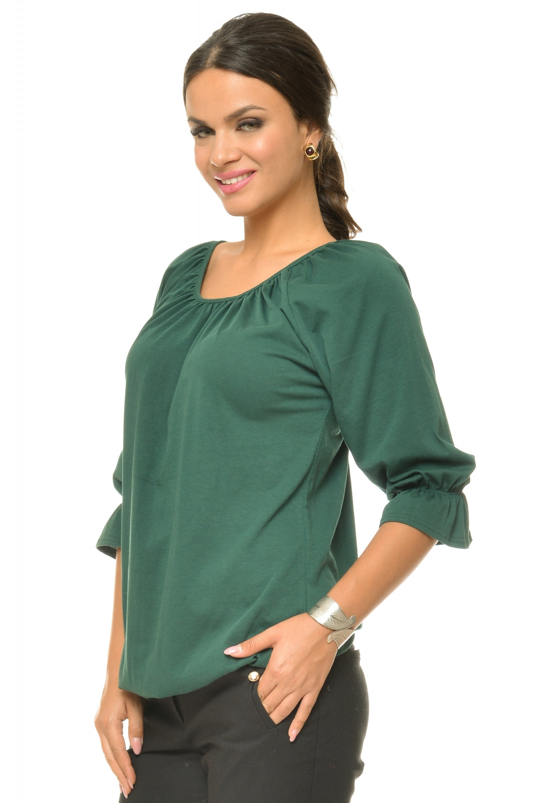 Bluza casual verde inchis - Natalee
