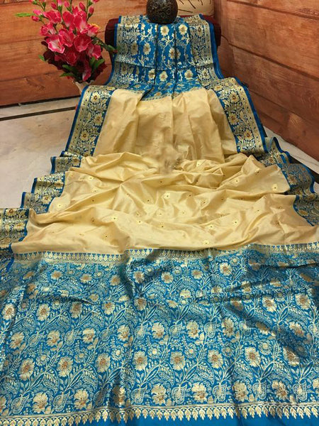 Awesome Bollywood Designer Banarasi Silk  Saree BS7007
