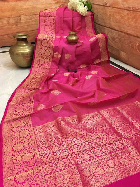 Awesome Bollywood Designer Banarasi Silk  Saree BS7008