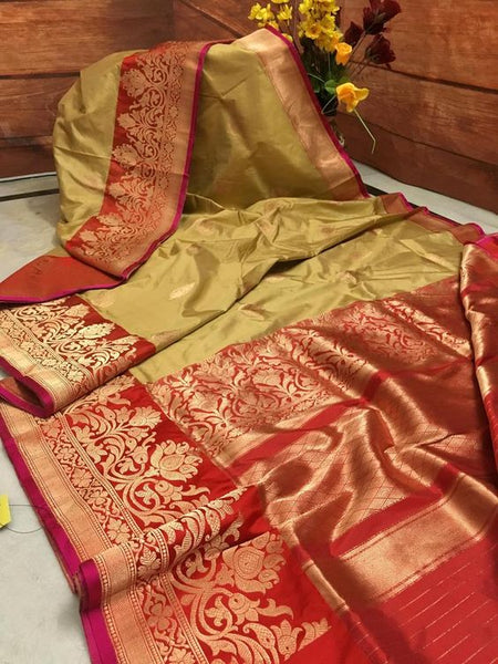 Awesome Bollywood Designer Banarasi Silk  Saree BS7011