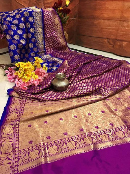 Awesome Bollywood Designer Banarasi Silk  Saree BS7018