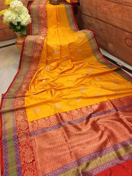 Awesome Bollywood Designer Banarasi Silk  Saree BS7029