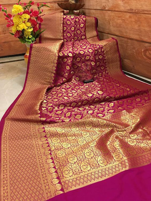 Awesome Bollywood Designer Banarasi Silk  Saree BS7033