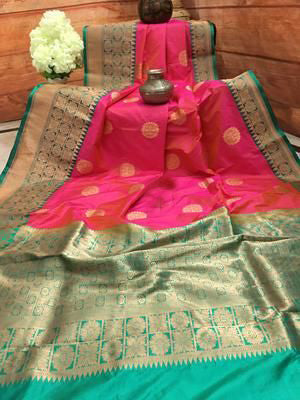 Awesome Bollywood Designer Banarasi Silk  Saree BS7035