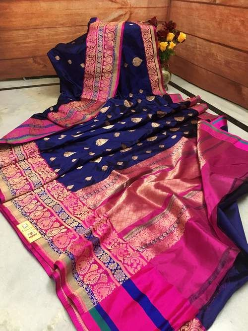 Awesome Bollywood Designer Banarasi Silk  Saree BS7040