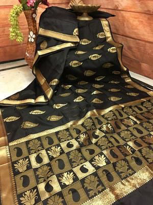 Awesome Bollywood Designer Banarasi Silk  Saree BS7041