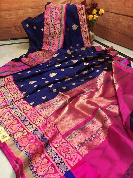 Awesome Bollywood Designer Banarasi Silk  Saree BS7044