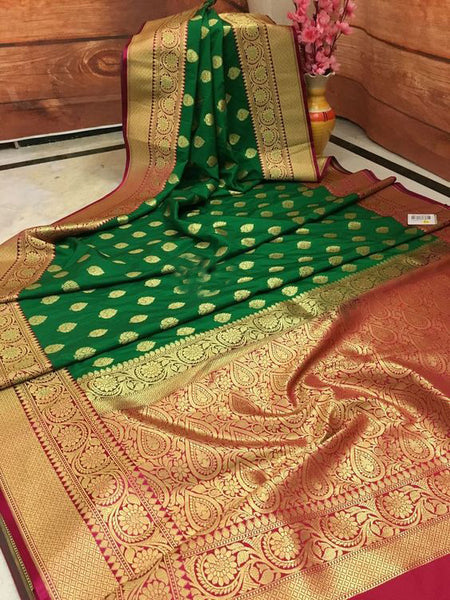 Awesome Bollywood Designer Banarasi Silk  Saree BS7047