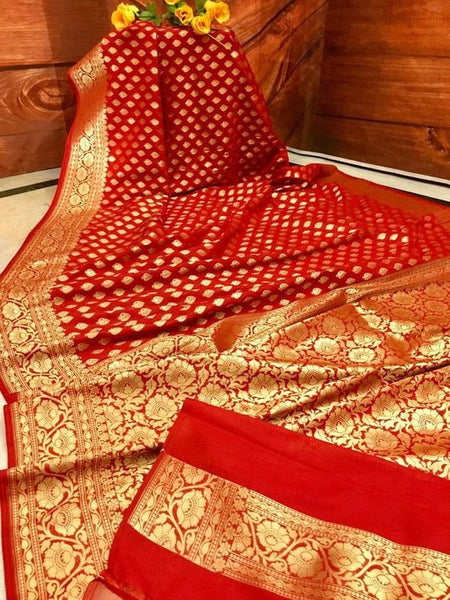 Awesome Bollywood Designer Banarasi Silk  Saree BS7048
