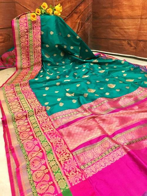 Awesome Bollywood Designer Banarasi Silk  Saree BS7051