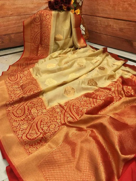 Awesome Bollywood Designer Banarasi Silk  Saree BS7054