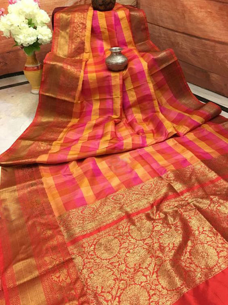 Awesome Bollywood Designer Banarasi Silk  Saree BS7058