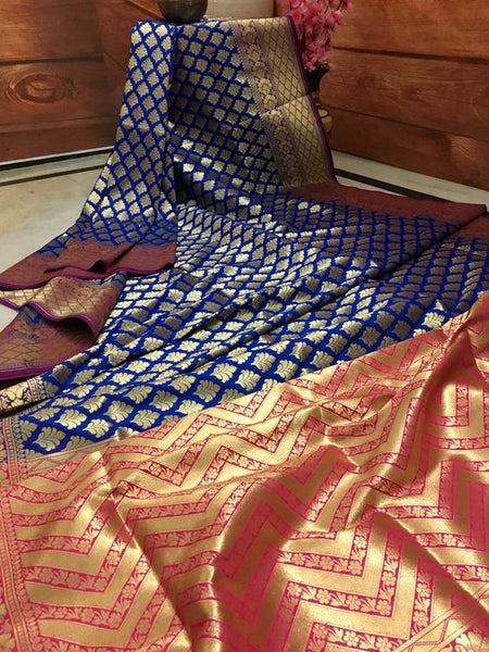 Awesome Bollywood Designer Banarasi Silk  Saree BS7061