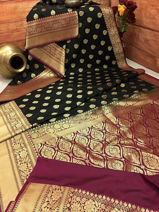 Awesome Bollywood Designer Banarasi Silk  Saree BS7065
