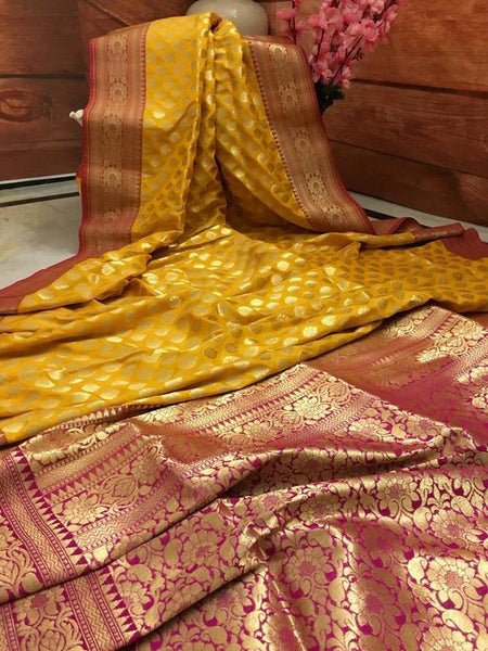 Awesome Bollywood Designer Banarasi Silk  Saree BS7066