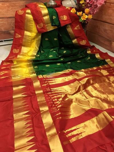 Awesome Bollywood Designer Banarasi Silk  Saree BS7087
