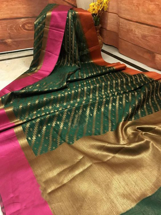Awesome Bollywood Designer Banarasi Silk  Saree BS7095