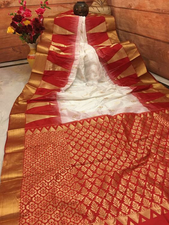 Awesome Bollywood Designer Banarasi Silk  Saree BS7101