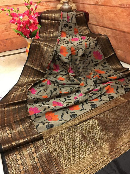 Awesome Bollywood Designer Banarasi Silk  Saree BS7103
