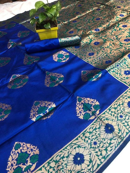Awesome Bollywood Designer Banarasi Silk  Saree BS7109