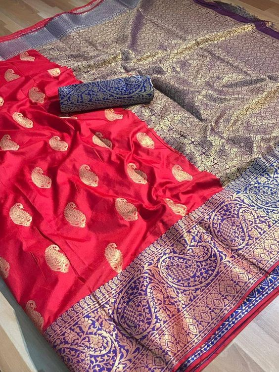Awesome Bollywood Designer Banarasi Silk  Saree BS7114