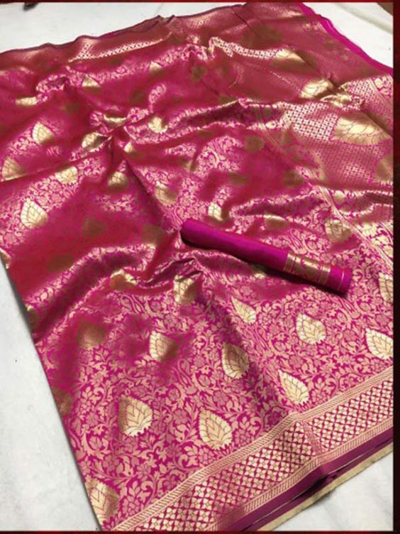 Awesome Bollywood Designer Banarasi Silk  Saree BS7128