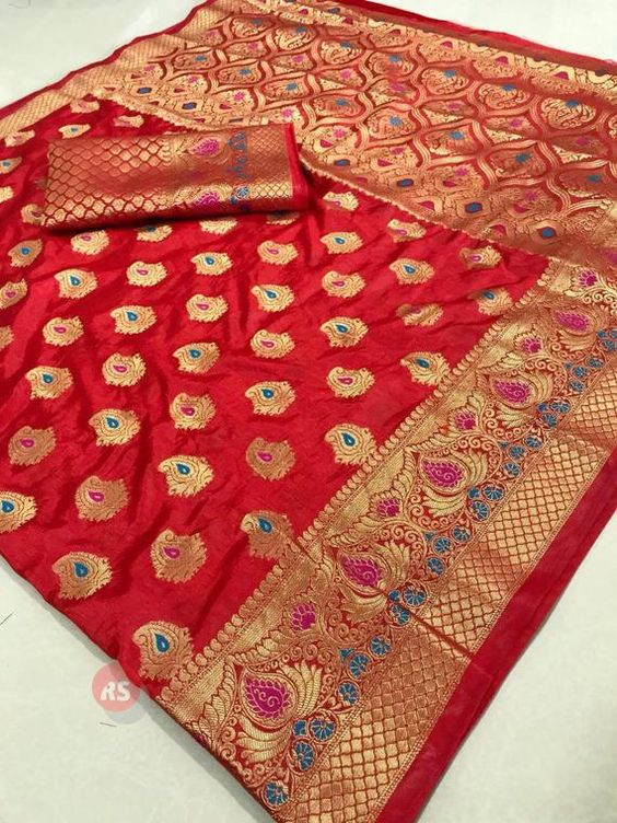 Awesome Bollywood Designer Banarasi Silk  Saree BS7149