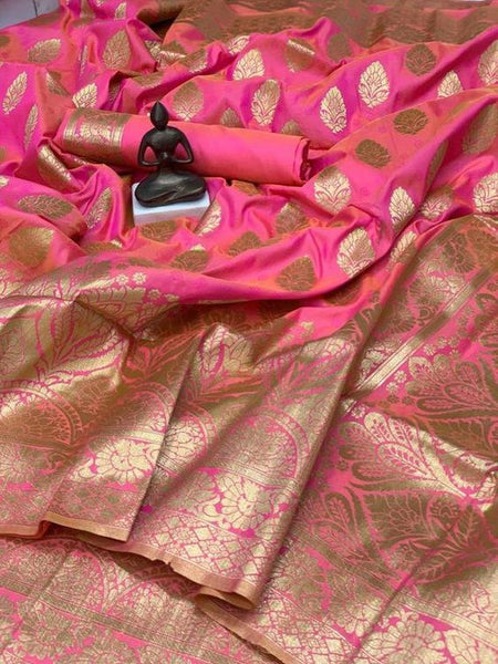 Awesome Bollywood Designer Banarasi Silk  Saree BS7154
