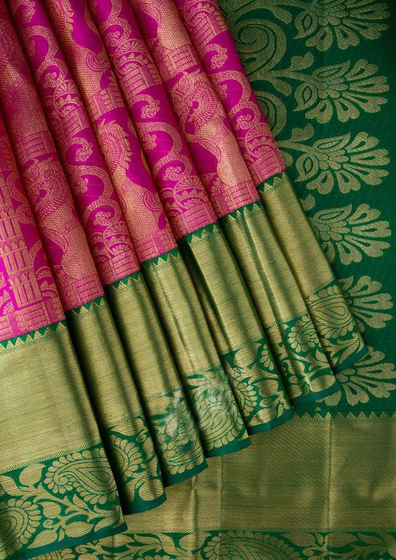 Awesome Bollywood Designer Banarasi Silk  Saree BS7203