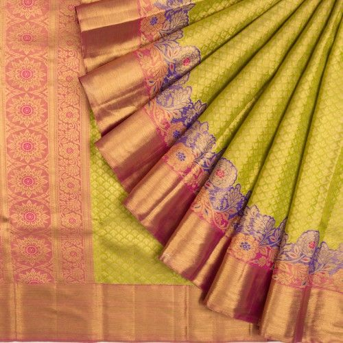 Awesome Bollywood Designer Banarasi Silk  Saree BS7205