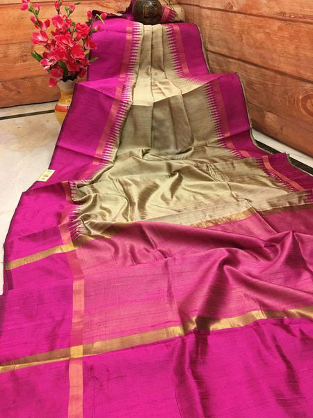 Elegant Beauty Dupion Silk Saree DP4005