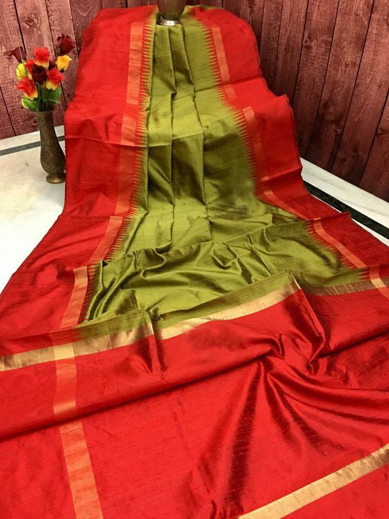 Latest Exclusive Designer Dupion Silk Saree DP4020