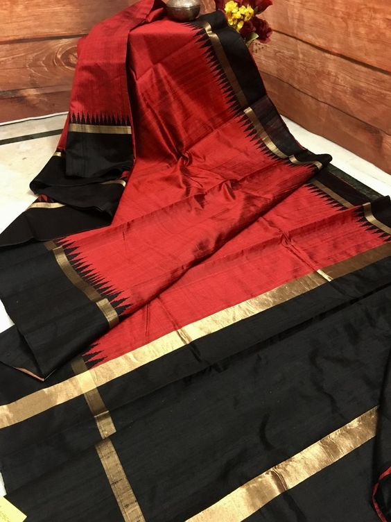New Attractive Design of Dupion Silk Saree DP4033