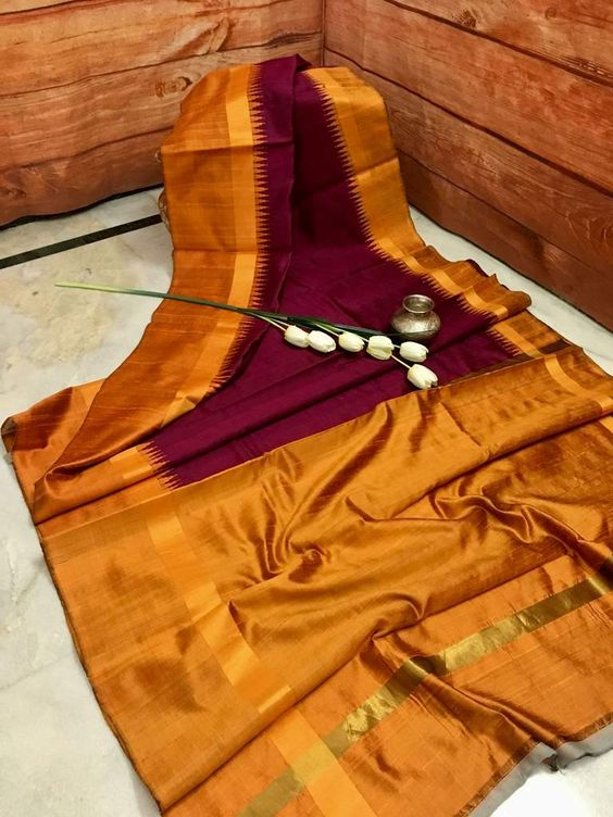 New Attractive Design of Dupion Silk Saree DP4034