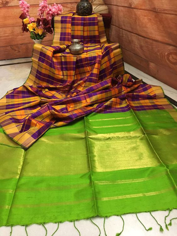 Luxurious Designer Dupion Silk Saree DP4060