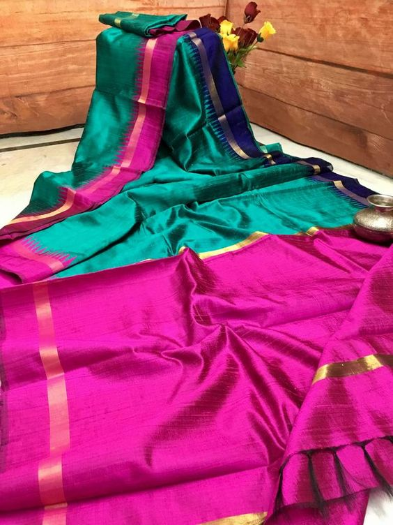 New Latest Fashionable Dupion Silk Saree DP4086