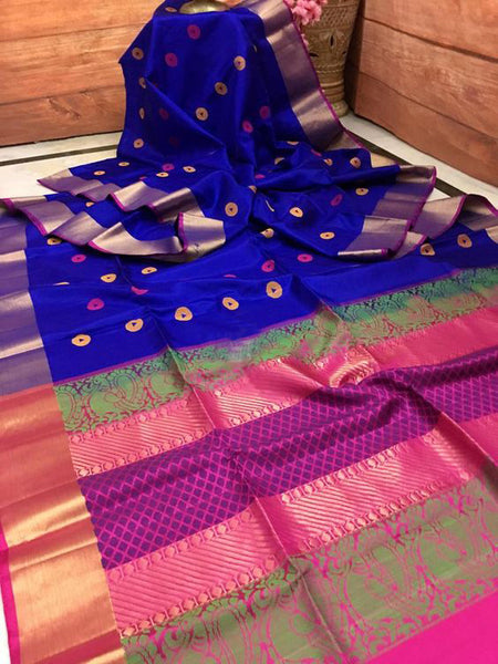 Awesome Bollywood Designer  Kanchipuram Silk Saree KC6002