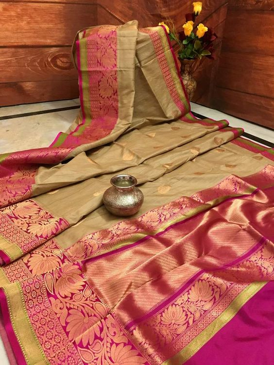 Awesome Bollywood Designer  Kanchipuram Silk Saree KC6010