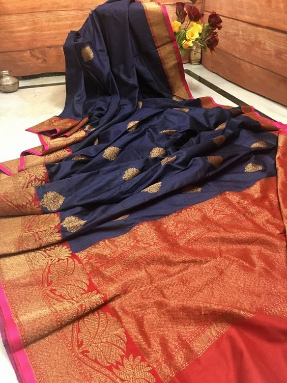 New Bollywood Designer  Kanchipuram Silk Saree KC6017