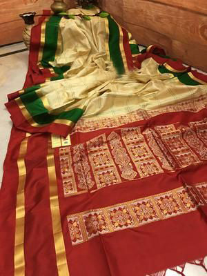 Awesome New Bollywood Designer  Kanchipuram Silk Saree KC6026